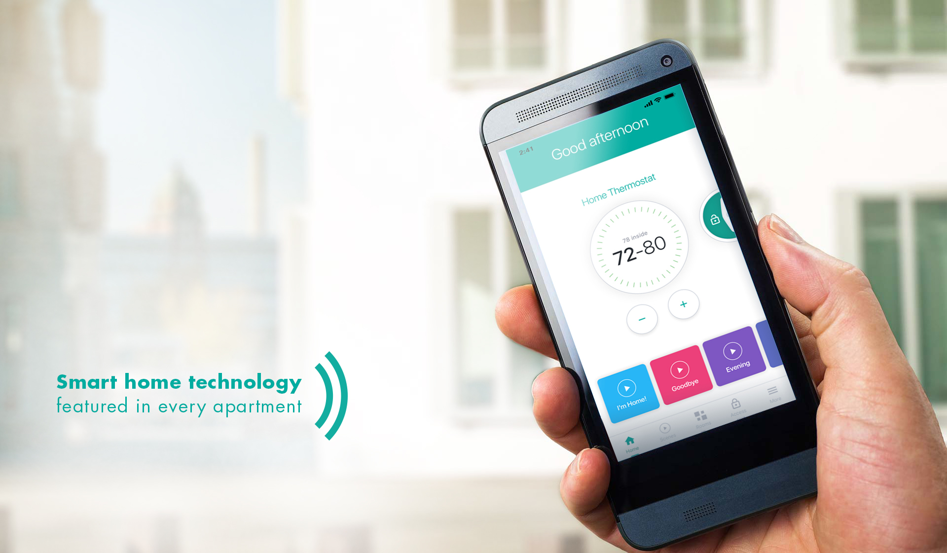 Charles Bank Apartments - smart home tech